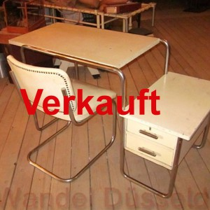 01430 original marcel breuer schreibtisch mit stuhl wandel antik. Black Bedroom Furniture Sets. Home Design Ideas