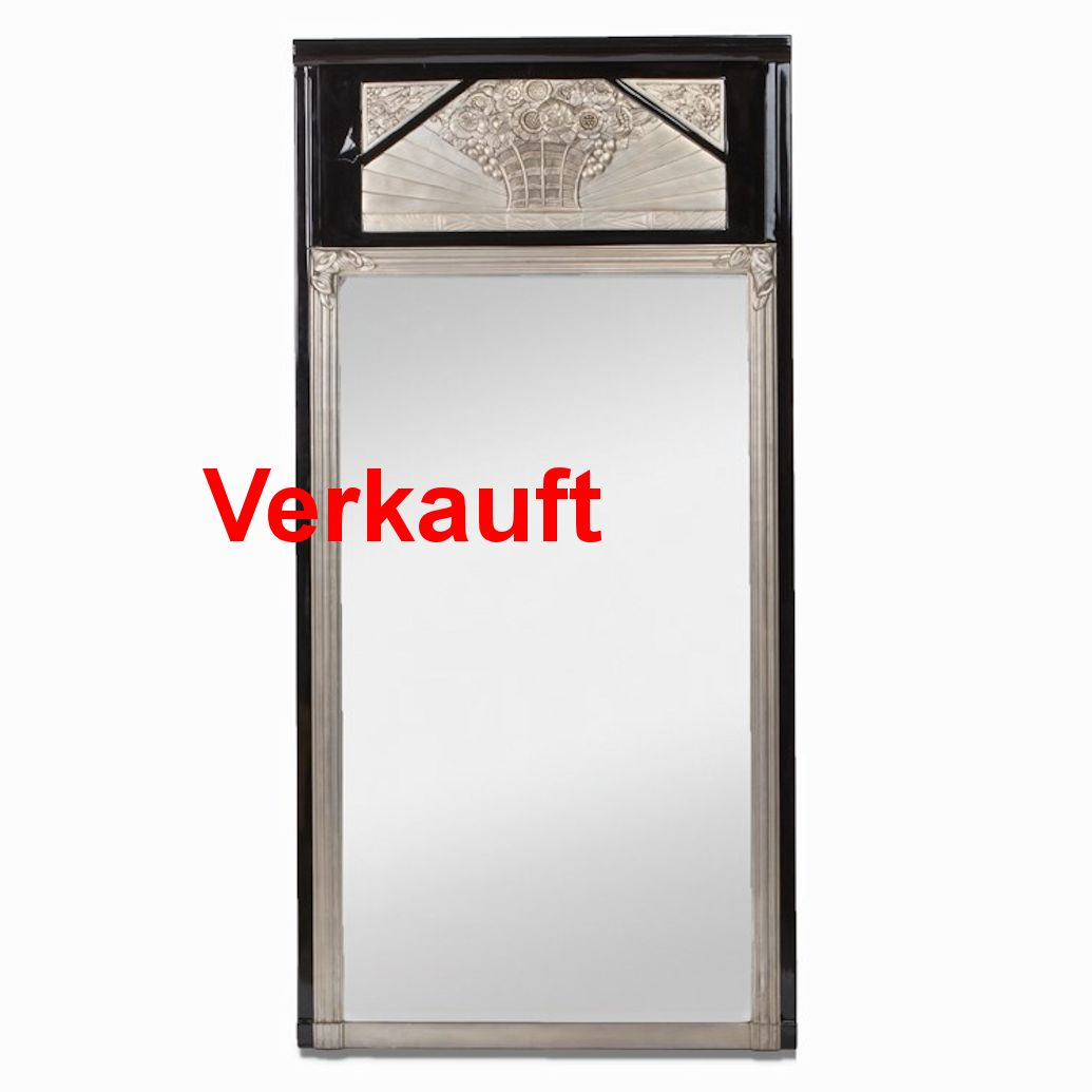 01467 gro er art deco spiegel wandel antik. Black Bedroom Furniture Sets. Home Design Ideas