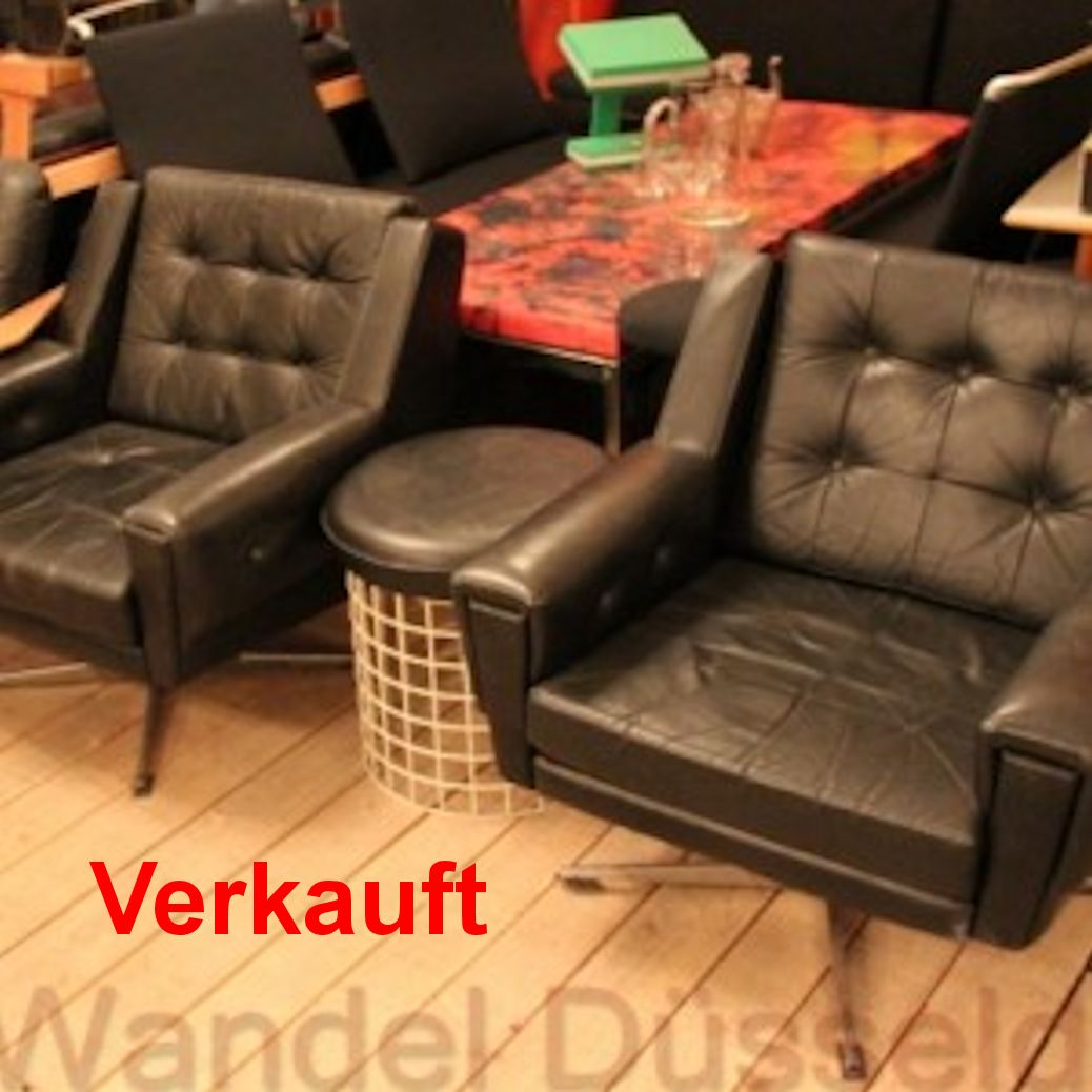 02463 60er jahre sessel auf drehkreuz wandel antik. Black Bedroom Furniture Sets. Home Design Ideas