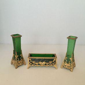 03033-dreiteiliges-vasenset,-1900-1905,-messing,- glas,-böhmen