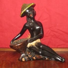 wandel-antik-01487-sitzende-afrikanerin-aus-gips