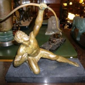 wandel-antik-02136-art-deco-bronze-bogenschuetze