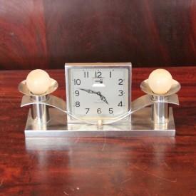 wandel-antik-01159-art deco tischuhr mit leuchten