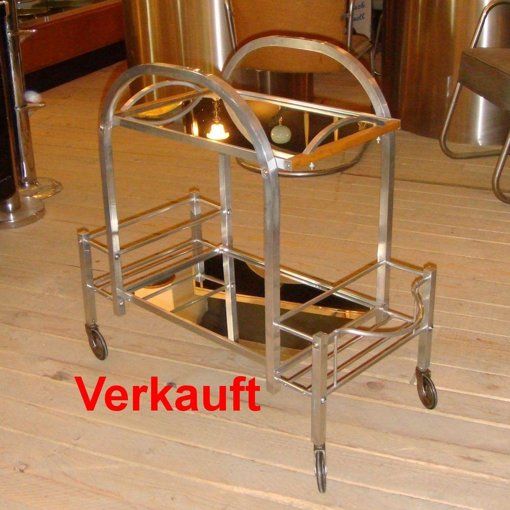 01025 art deco barwagen mit spiegeltablett wandel antik. Black Bedroom Furniture Sets. Home Design Ideas