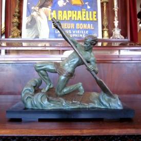wandel-antik-01120-art-deco-skulptur-alexandre-ouline-der-ruderer