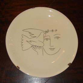 wandel-antik-01289-wandteller-mit-picasso-zeichnung