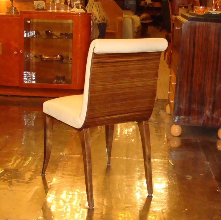 Satz Art Deco Stühle Mit Lederbezug Wandel Antik