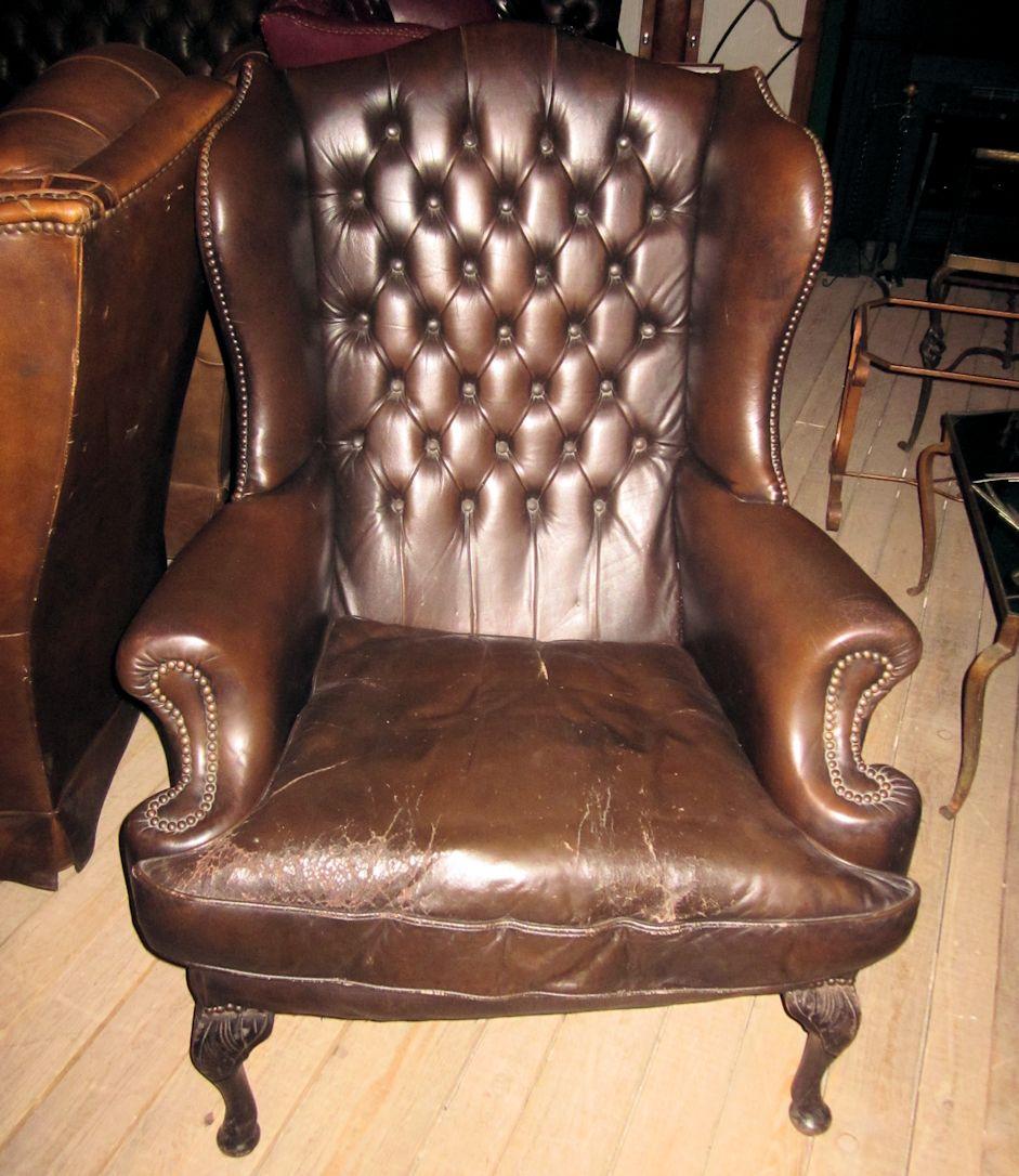 01621 ohrensessel im chesterfield stil wandel antik. Black Bedroom Furniture Sets. Home Design Ideas