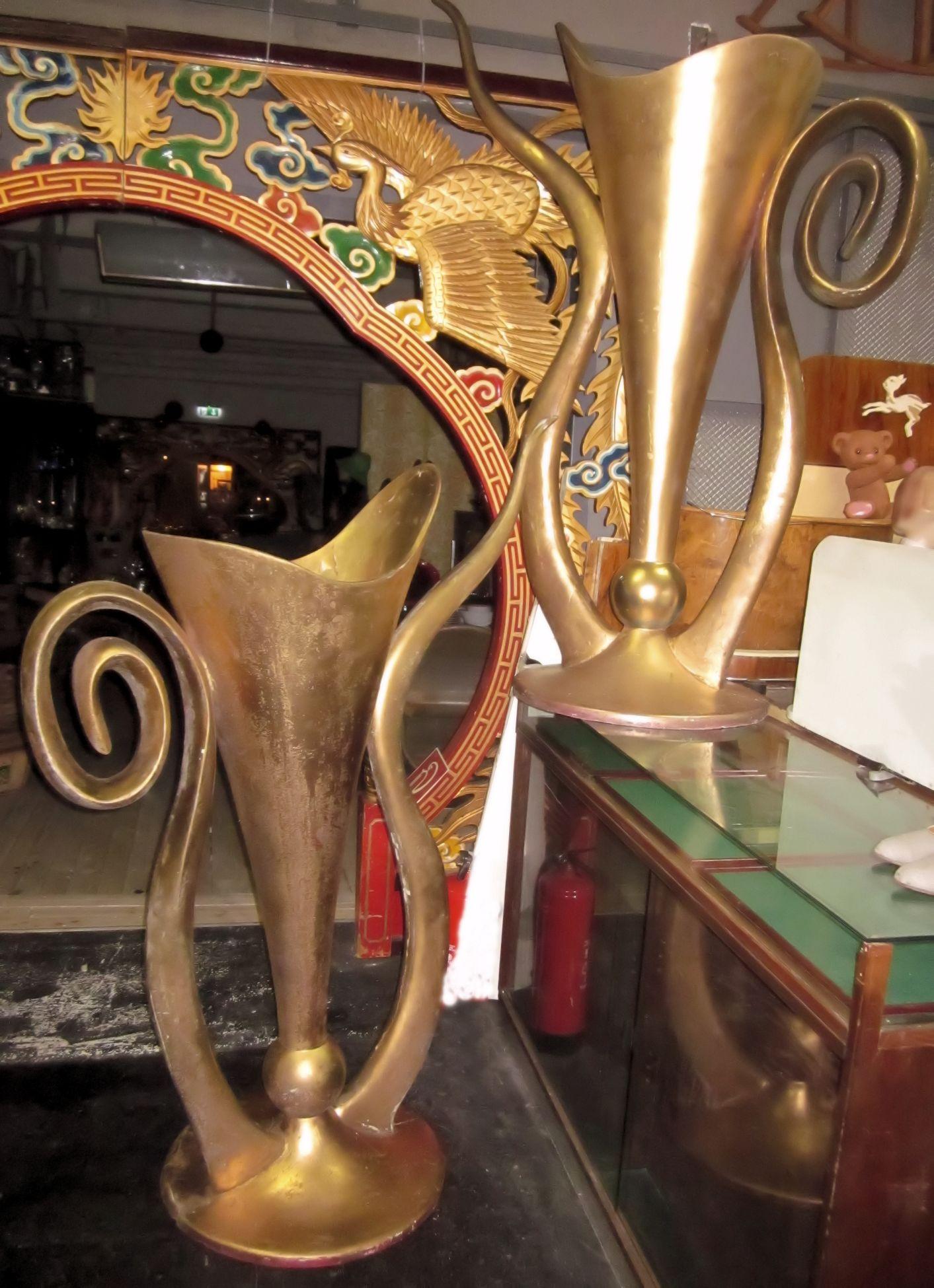 01639 gro e goldfarbene vasen wandel antik. Black Bedroom Furniture Sets. Home Design Ideas