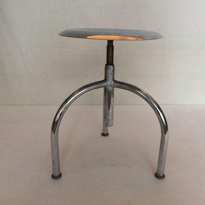 01705 verchromter drehhocker wandel antik. Black Bedroom Furniture Sets. Home Design Ideas