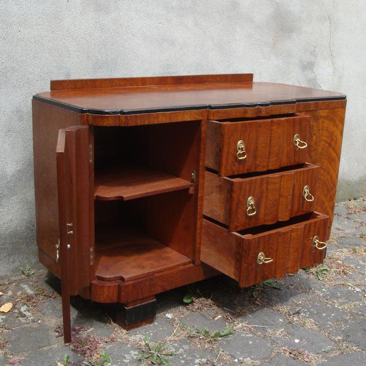 01719 kleines sideboard mit schubladen wandel antik. Black Bedroom Furniture Sets. Home Design Ideas