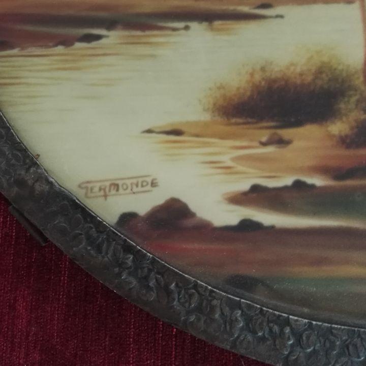 01781 jugendstil tablett wandel antik. Black Bedroom Furniture Sets. Home Design Ideas