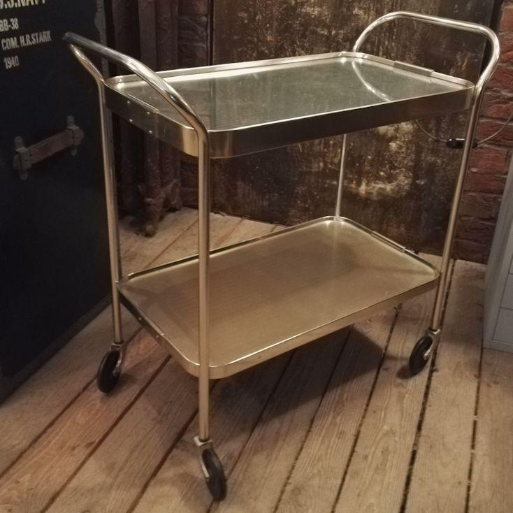 01886 servierwagen beheizbar 50er wandel antik. Black Bedroom Furniture Sets. Home Design Ideas