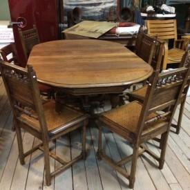 wandel-antik-01892-eiche-tisch-6-stühle-1