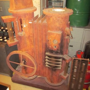 wandel-antik-01971-industrie-phantasiemaschine-rad-dreht-sich-zu-beleuchten
