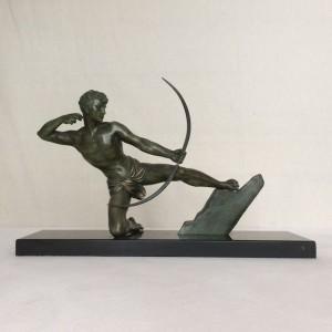 wandel-antik-02124-art-deco-bronze-bogenschütze