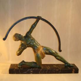 wandel-antik-02423-chiparus-skulptur-bogenschütze
