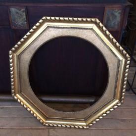 wandel-antik-02845-goldener-holzrahmen-achteckig