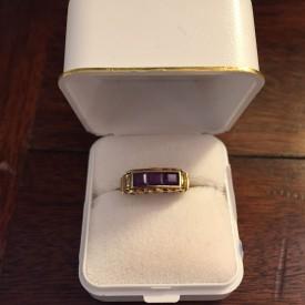 03302 - Ring - Gold -mit - Amethyst