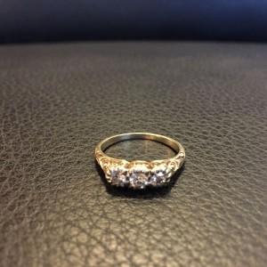 wandel-antik-03407-ring-gold-mit 3 Brillianten