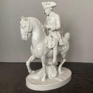 wandel-antik-03730-Porzellanfigur friedrich II. zu pferde